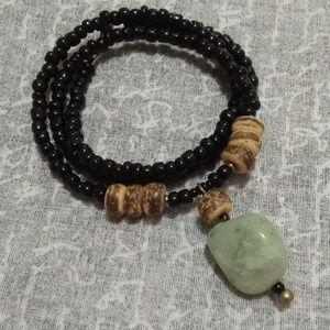 Men's Agate 🌴 Beach BOHO Coconut Beaded Necklace